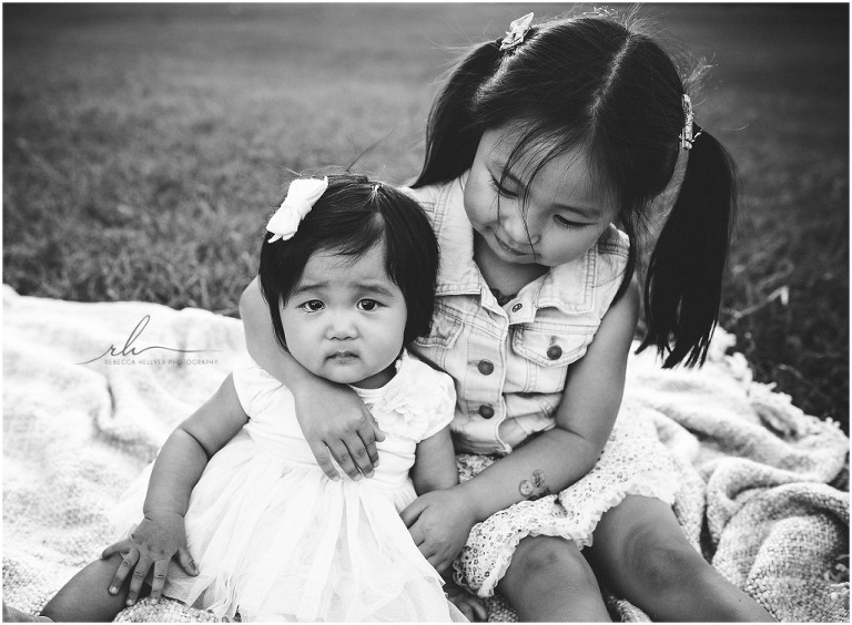 two sisters | chicago black and white photographer