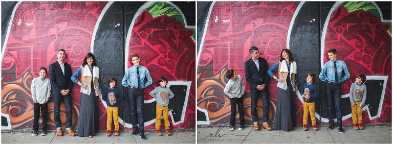 Chicago Family Photographer | Family photos at a mural | Rebecca Hellyer Photography