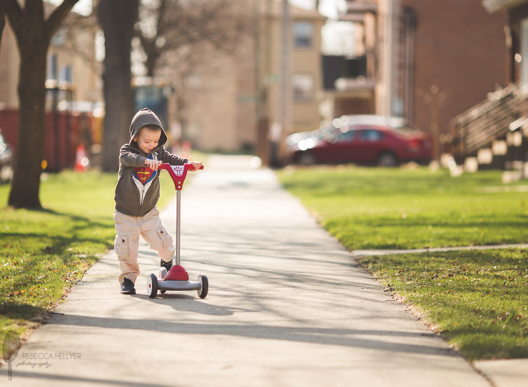 child on scooter | Chicago Photographer