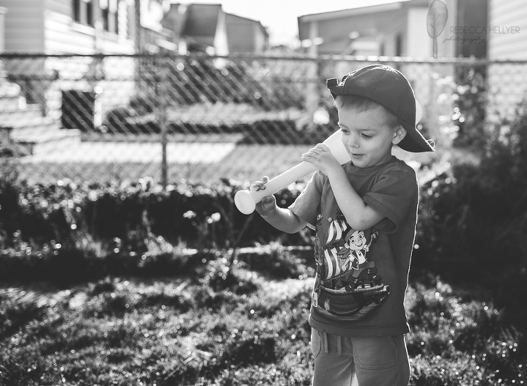 boy playing baseball | Chicago Child Photographer