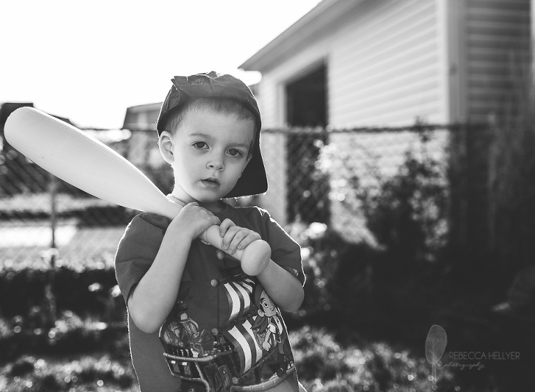 boy with bat | Chicago Child Photographer