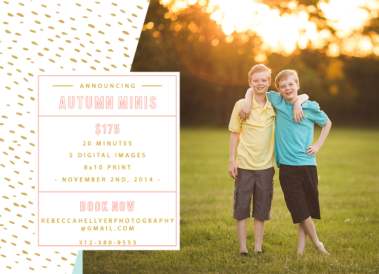 Chicago fall mini sessions | Rebecca Hellyer Photography