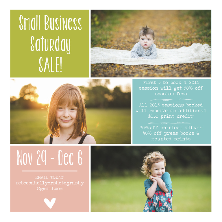 Small Business Saturday Sale | Chicago Photographer