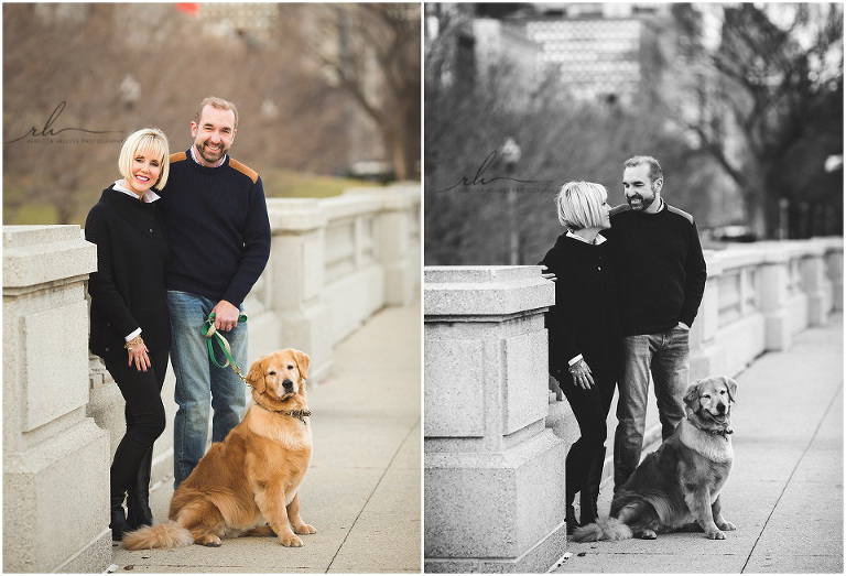 Chicago family photographer couples photos in grant park rebecca hellyer photography