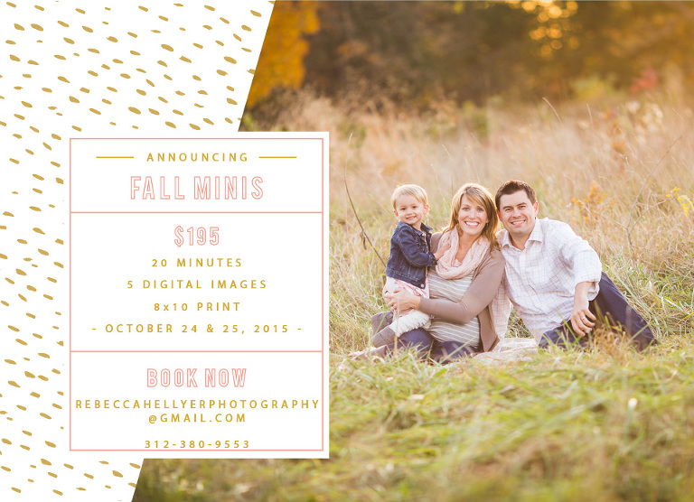 Chicago Fall Mini Sessions | Chicago Photographer | Fall Photography Mini-Sessions | Rebecca Hellyer Photography