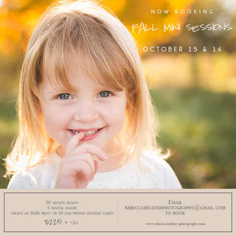 Chicago Fall Mini Sessions | Chicago Family Photographer | © Rebecca Hellyer Photography
